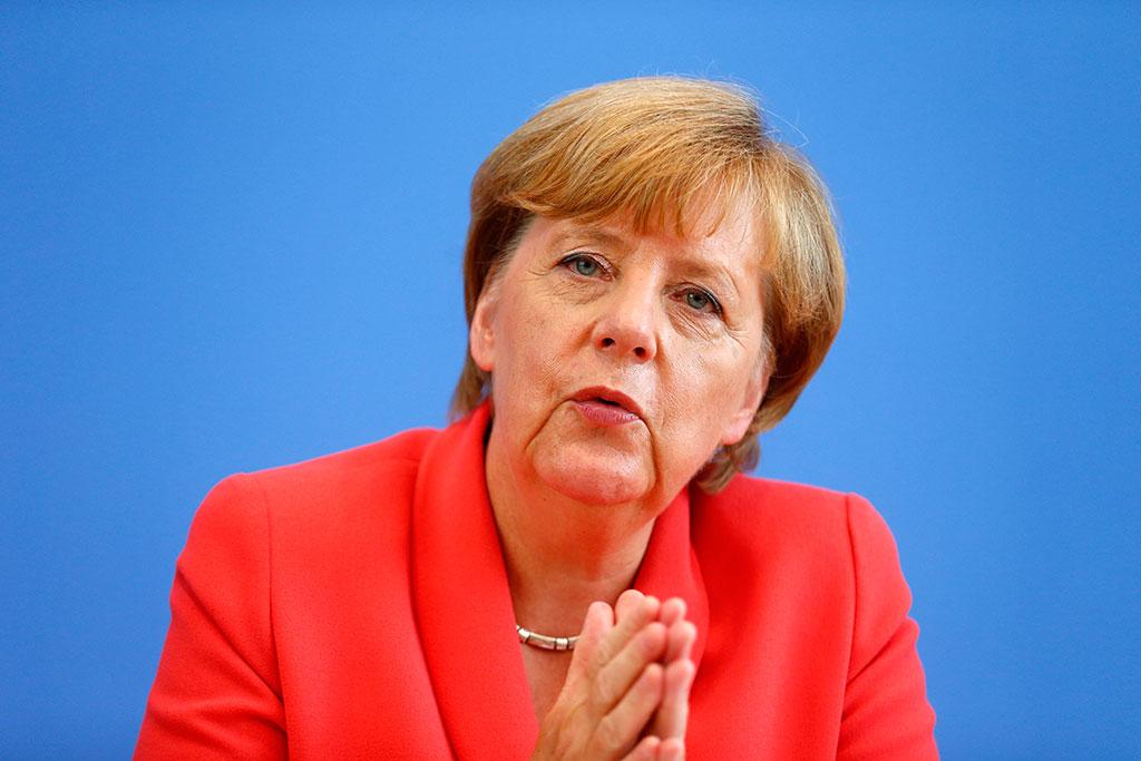 Канцлер Ангела Меркель призывает к дружбе между ЕС и Россией