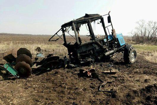 Неподалеку Луганска намине подорвался трактор слюдьми,— ОБСЕ