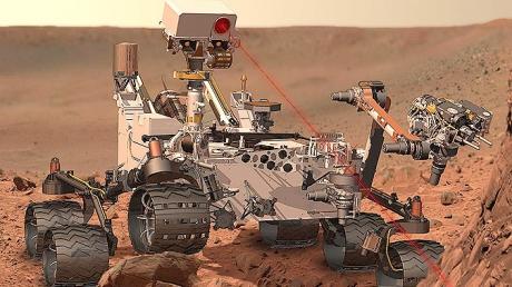Марсоход «Curiosity» сделал уникальные фотографии марсианских скал