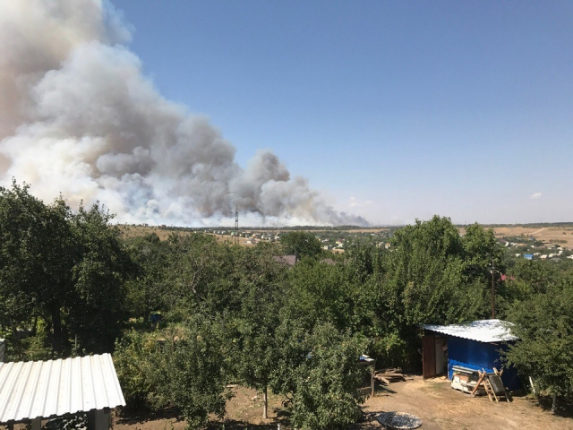 Натушение пожаров под Волгоградом направили неменее сотни военных