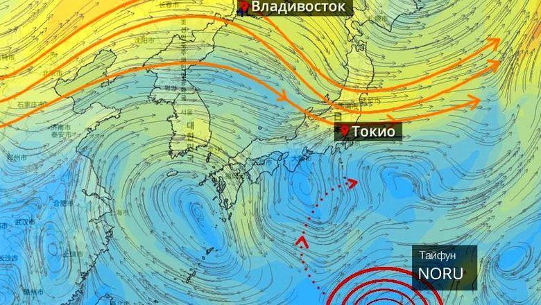 Синоптики поведали, когда тайфун NORU обрушится наПриморье