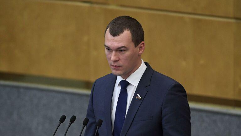 Врио губернатора Хабаровского края Дегтярев прибыл в регион