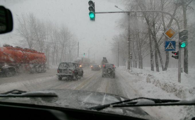 Сильный снегопад иметели ожидаются вНовосибирской области