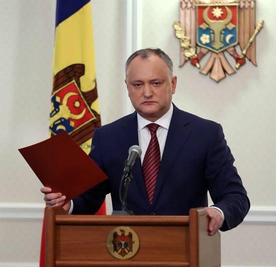 Додон попросил «Газпром» оскидке нагаз для Молдавии