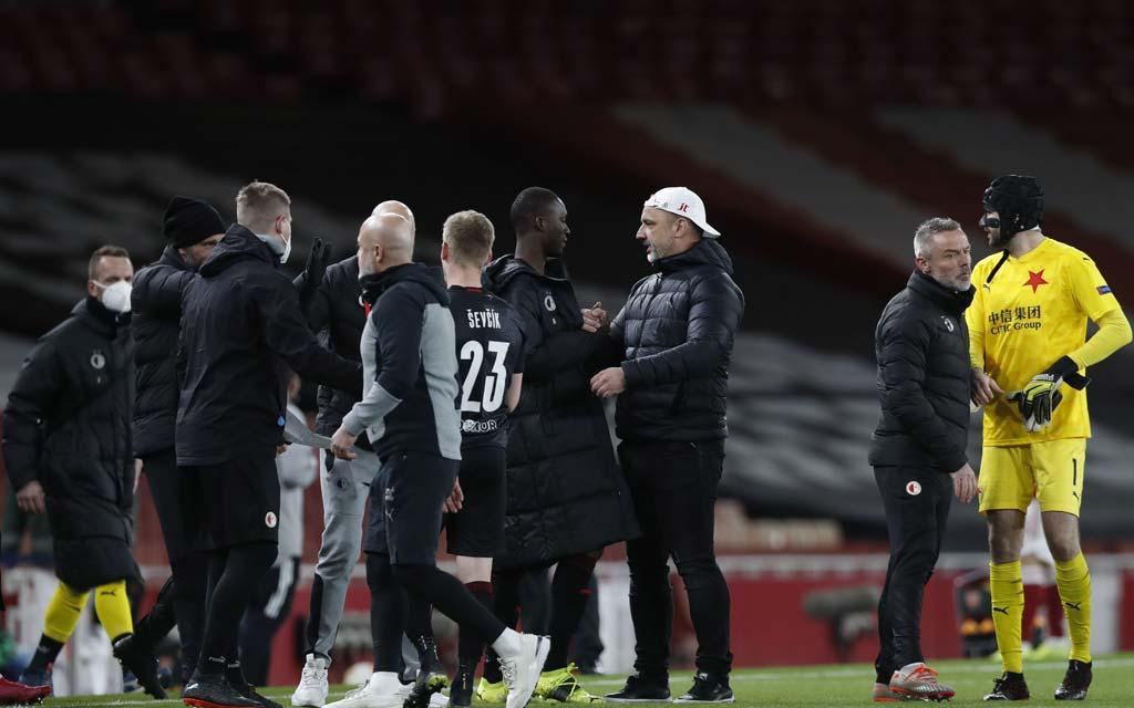 «Славия» сыграла вничью с «Арсеналом» в матче ¼ финала Лиги Европы