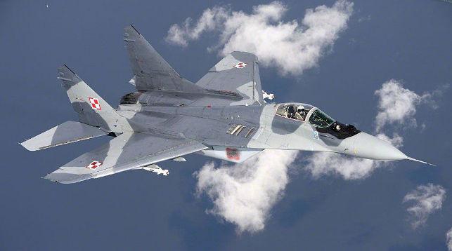 ВВС Польши разбился уМинска Мазовецкого, пилот катапультировался