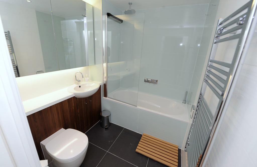 Bathroom wood cabinet