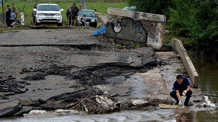 Вред дорогам Приморья отнаводнений оценили в млрд руб.
