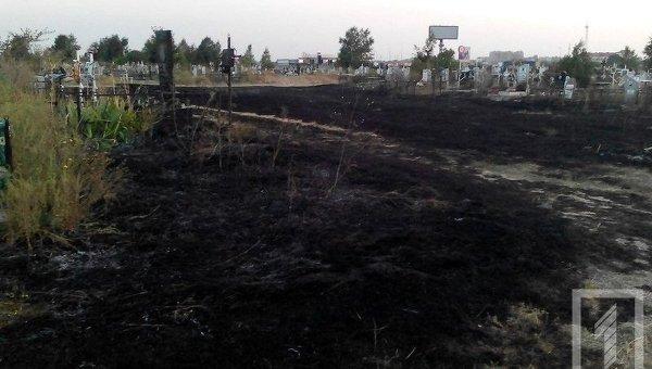 ВОдессе подожгли самое огромное кладбище Украинского государства