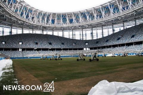Стадион «Нижний Новгород» навсе 100% готов ктестовым матчам