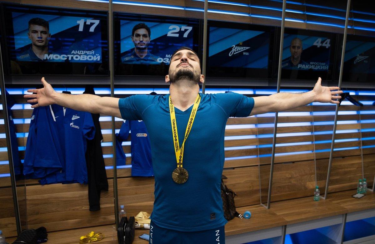 Чемпионская раздевалка «Зенита». Видео