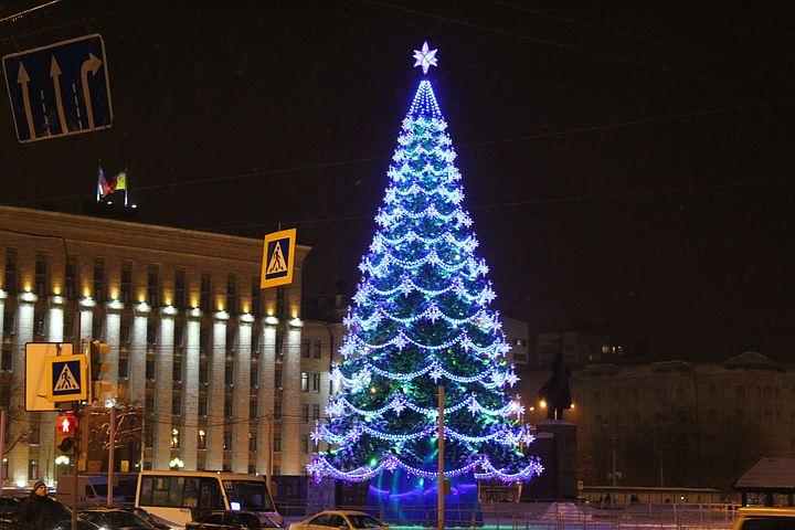 Вцентре Воронежа нановогодние праздники перекроют движение вокруг площади Ленина