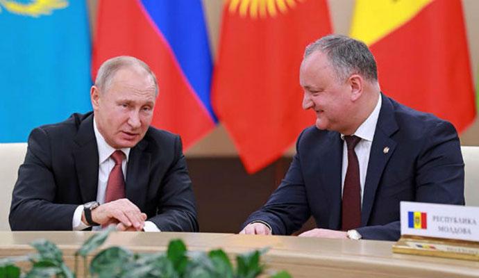 Как и обещал, Додон подарил Путину свое домашнее вино