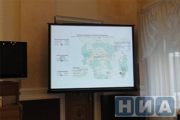Избирательная комиссия Красноярского края— Владимир Путин выигрывает с74,31%
