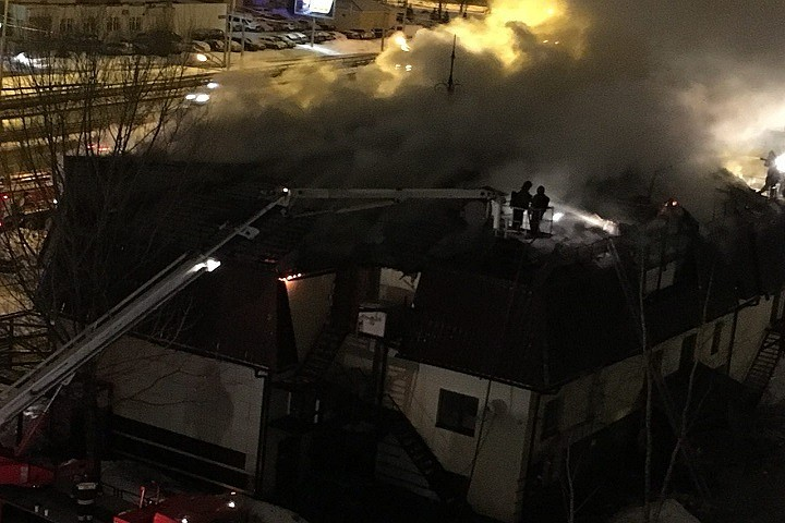 ВКазани произошел пожар втрактире «Старый амбар» наЯмашева