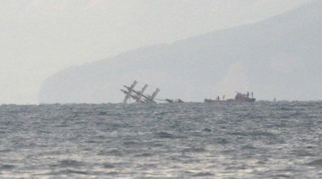 Кораблекрушение уберегов Антальи спострадавшей россиянкой попало навидео