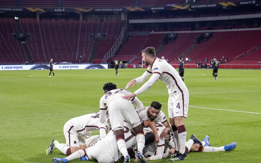 «Рома» одержала волевую победу над «Аяксом» в первом матче ¼ финала ЛЕ