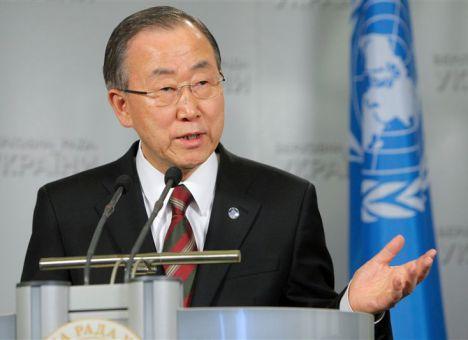 ООН пытается уладить конфликт с Украиной, исправив речь Пан Ги Муна