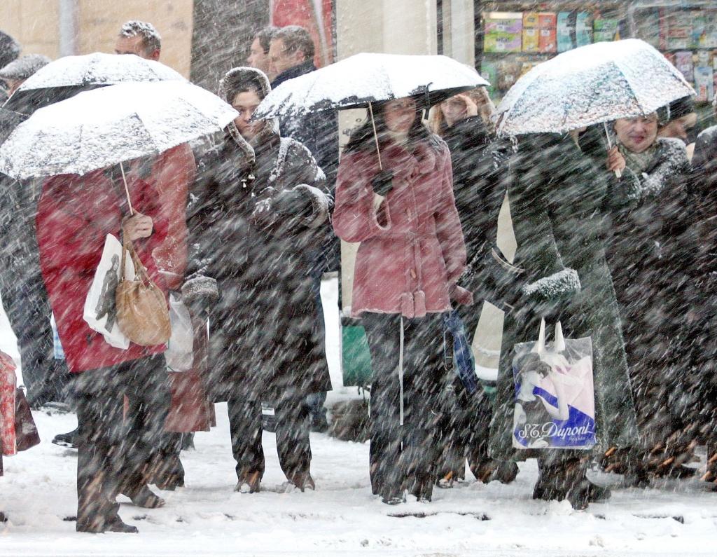 В Витебской области выпал первый снег