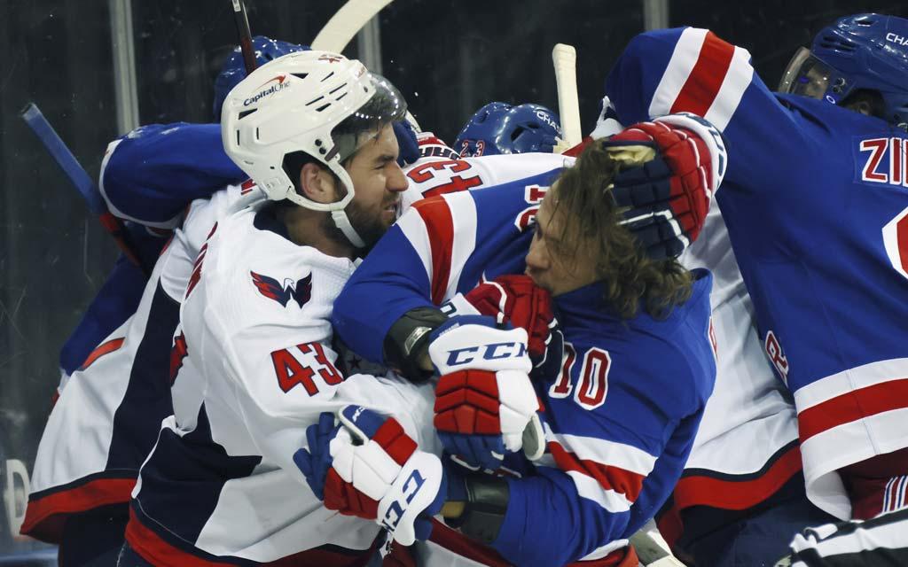 «Это просто смешно». НХЛ вынесла вердикт по драке Уилсона с русскими из «Рейнджерс»
