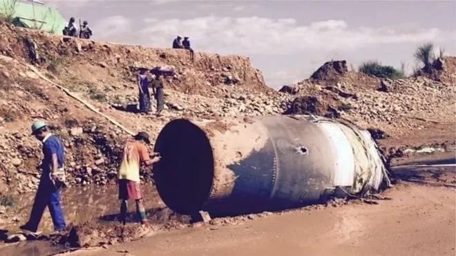 Натерриторию Мьянмы упал неопознанный объект