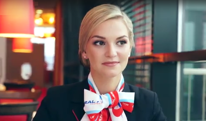 Красноярка стала одной изсамых красивых стюардесс мира