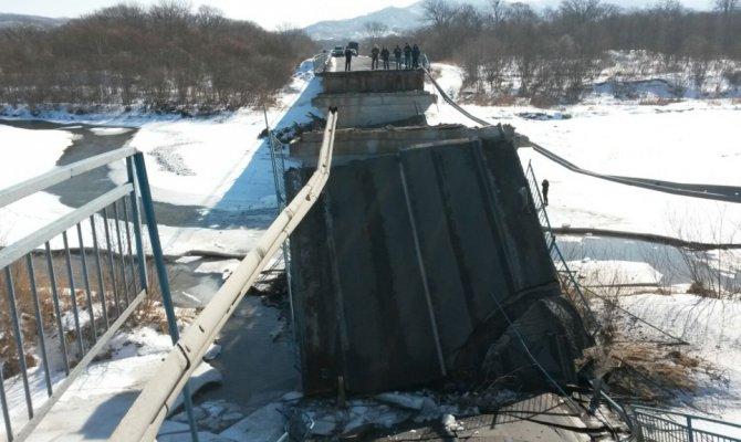 Рухнувший вПриморье мост восстановят доконца марта— власти