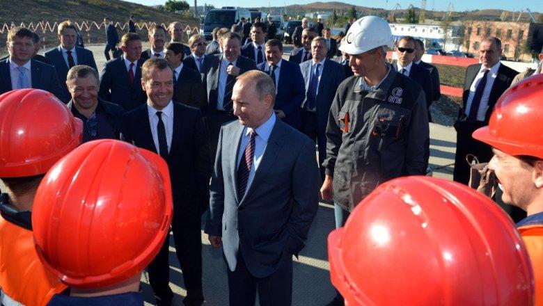 Песков заявил, что Путин не посещает частные стройки