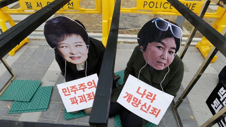 Около полумиллиона человек вышли наулицы Сеула, требуя отставки властей