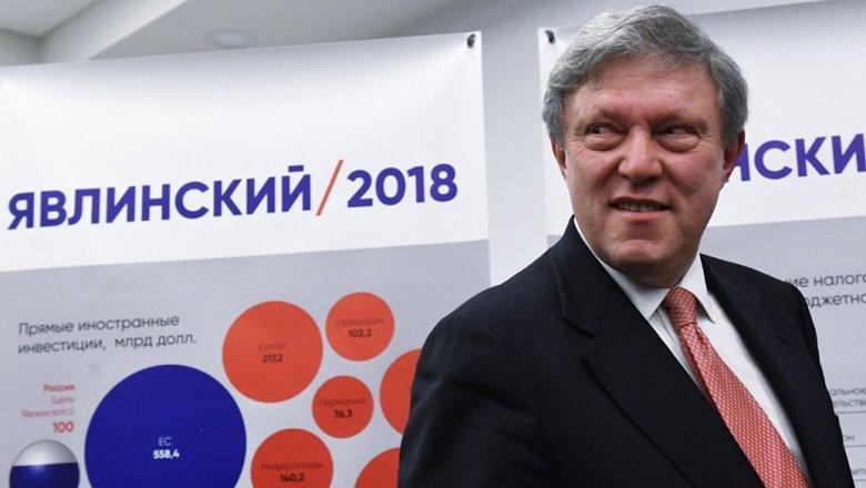 Съезд партии «Яблоко» в столицеРФ выдвинет Явлинского кандидатом впрезиденты