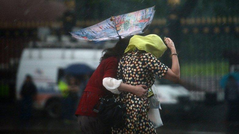 МЧС предупредило жителей столицы осильном дожде иветре