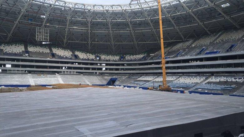 Парник настадионе «Самара Арена» сняли умышленно, чтобы очистить отснега