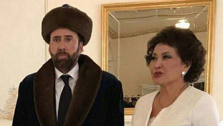 Николас Кейдж в общегосударственном казахском костюме стал героем социальных сетей — Новый образ