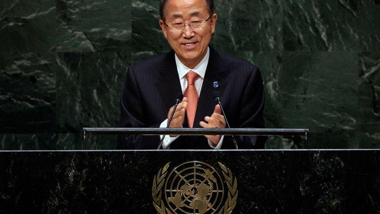 Генеральный секретарь ООН Пан ГиМун хотелбы видеть воглаве организации женщину