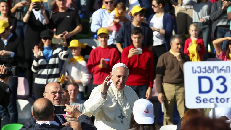 Папа римский прибыл вТбилиси