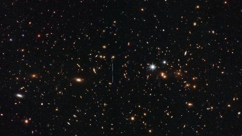 «Хаббл» смог запечатлеть нафото очертания новейшей дальней Галактики
