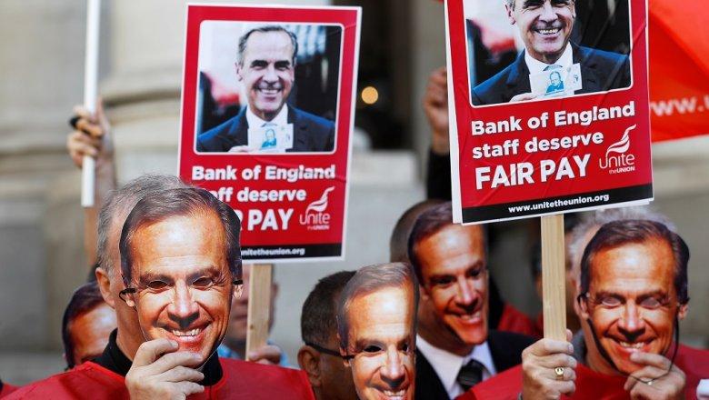 Четырехдневную забастовку сегодня начнут работники Банка Британии