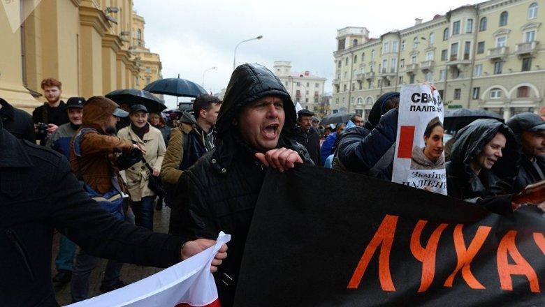 Оппозиция провела вМинске «Марш возмущенных белорусов 2.0»
