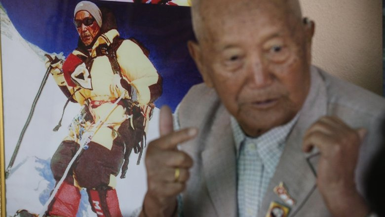 НаЭвересте при попытке побить мировой рекорд скончался 85-летний непалец