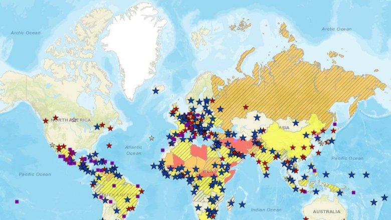 Госдеп США включил РФ вчисло стран рискованных для туристов