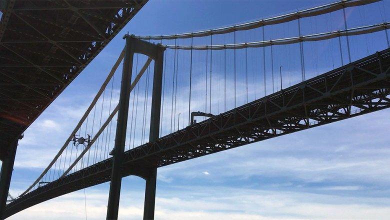 Дрон впервинку использовали для осмотра моста
