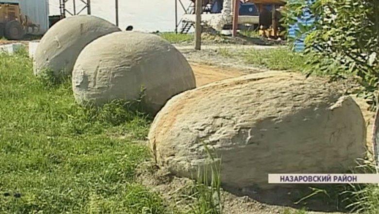 В Красноярском крае угольщики нашли огромные шары из песка и глины