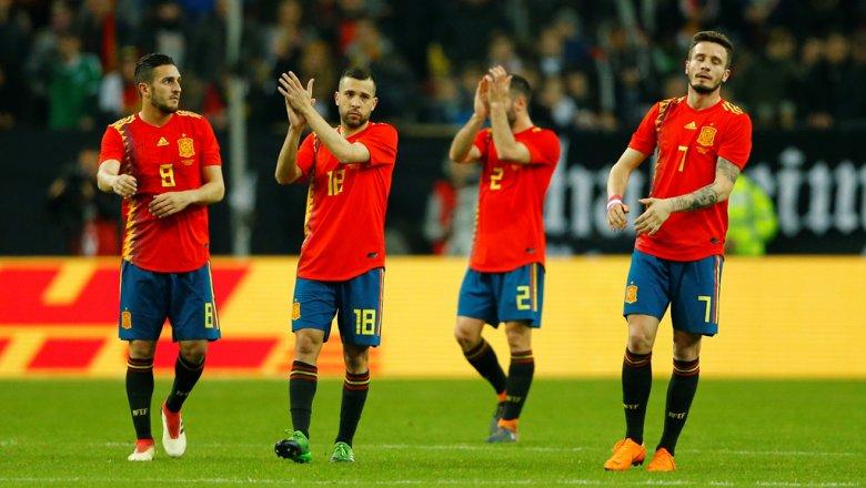 Тренировка сборной испании по футболу